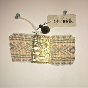 Women's Pastel Beaded Bracelet W/Gold Plate